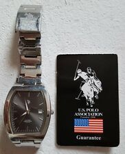 USED STAINLESS STEEL, BOXED, POLO, WRISTWATCH, CIRCA : 1990'S, MADE IN THE USA .