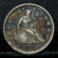 1875-P 20 CENT PIECE ✪ XF DETAILS ✪ 20C SILVER EXTRA FINE CLEANED L@@K ◢TRUSTED◣