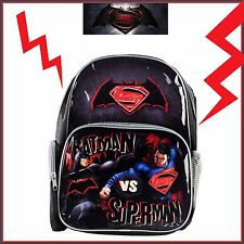 Batman vs Superman Backpack Kids Boys School Library Lunch Bag Travel Luggage