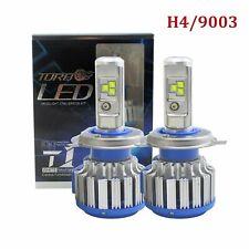2x Canbus H4 HB2 9003 Turbo LED Headlight Kit High Low Beams White 6000K 28000LM