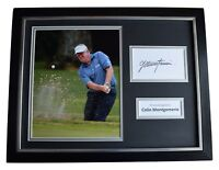 Colin Montgomerie Signed Framed Photo Autograph 16x12 display Golf AFTAL & COA