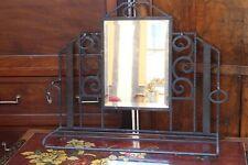 Porte manteau porte chapeau à fond de miroir en fer forgé Art déco