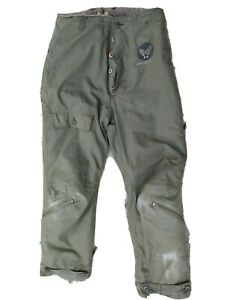 1940s WW2 Type A-9 Fur Lined US ARMY AIR FORCES Flight Pants Vintage Marked 36