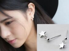 925 Sterling Silver Star & Ball Stud Post Dangle Earrings Gift Box PE19
