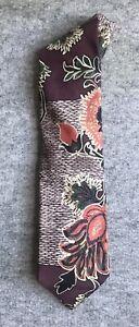 Christian Lacroix Necktie, Deep-Toned Floral, Excellent Condition