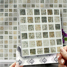 8 Pastel Mosaic Stick On Wall Tile Stickers Transfers For Kitchens Bathrooms