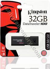 32GB USB Flash Pen Drive Kingston 32G USB 3.0 DT100G3/32GB