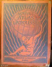 NOUVEL ATLAS LAROUSSE par Léon Abensour, Larousse 1924