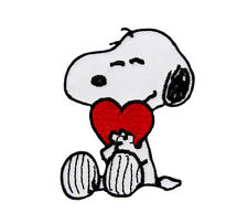 PEANUTS-SNOOPY with heart-ricamate aufbügler PATCH BADGE-NUOVO #9035