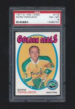 1971 OPC O Pee Chee  #179 Norm Ferguson PSA 8 Golden Seals