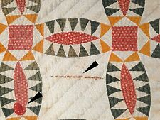 1860-1880 Indian Wedding Ring / Pickle Dish Quilt
