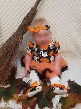 Baby girl pumpkin ghost halloween outfit 6-9 months