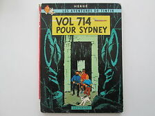 TINTIN VOL 714 POUR SIDNEY EO1968 2EME TIRAGE B37 etat BE edition originale