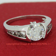 Real Genuine Solid 9ct White Gold Engagement Wedding Esteem Rings Lab Diamonds
