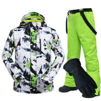 Ski Suit Men Winter Windproof Waterproof Thermal Snow Jacket Pants Clothes Suit
