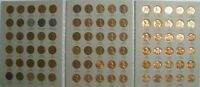 Complete set 1941-1974 PDS Lincoln Wheat & Memorial Penny Cent Set G-BU 90 coins