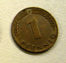 1950 Germany 1 Pfennig Coin your choice of F or G or D or G
