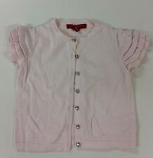 Gorgeous Baby Pink Strawberry Faire Girls Ruffle Sleeve Cardigan Age 5 Yrs