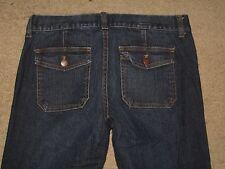 J. Crew Size 8 Curvy Fit Flap Pocket Flare Stretch Denim Womens Jeans