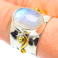Rainbow Moonstone Copper 925 Sterling Silver Ring Size 8.75 Jewelry R51314F