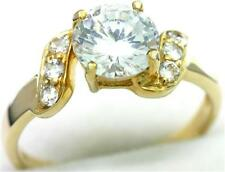 1.30ct Sparkling 9K 9ct 375 Solid Gold Engagement Style Ring Real Solid Gold