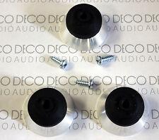 Rega RP6 & P9 Rubber & Aluminium Feet (fits Planar 2 & 3, RP1, P3, RP3 etc) DECO