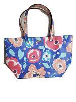 Kate Spade Bag Tote XL Newbury Lane Jules Floral Shopper 11x20! Blue Red Teal