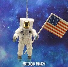 NASA 1969 Apollo 11 Astronaut Buzz Aldrin Christmas Ornament Neal Armstrong Flag