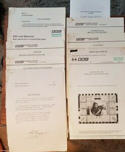 VINTAGE BBC TELEVISION ENGINEERING TRAINING MANUAL SHEETS BOOKLETS