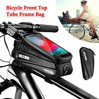 Waterproof Bicycle Front Top Tube Frame Bag MTB Bike Phone Holder Pouch Bags