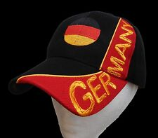 Germany German Flag Soccer Sport Baseball Embroidered Hat Cap Chapeau Casquettes
