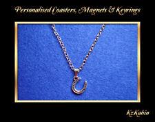 Lucky Horseshoe Tibetan Silver Charm Necklace Pendant Birthday Gift