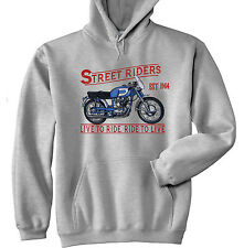 DUCATI 250 DIANA MARK 3 1964 - GREY HOODIE - ALL SIZES IN STOCK