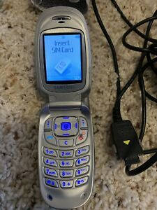 Samsung SGH E315 (T-Mobile) Silver Cell Phone Good Condition Used