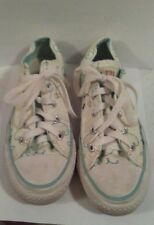 Converse All Star Women's Size 6, White/Aqua Trim, Good Cond.