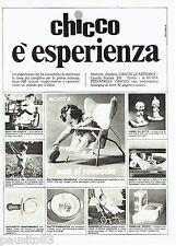 PUBLICITE ADVERTISING 046  1969  Chicco  siège bébé couches tétine