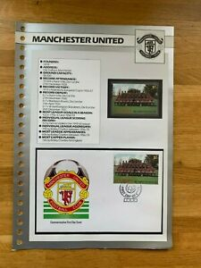 ST VINCENT 1987 MNH STAMP & FDC & PAGE FOOTBALL TEAMS MANCHESTER UNITED
