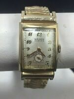 Vintage Men's Gruen Curvex 370 10K Gold Filled Manual Wind Wristwatch *Runs*
