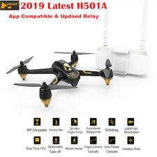 Hubsan X4 H501A RC Wifi Quadcopter Brushless FPV 1080P GPS Waypoint Drone +Relay
