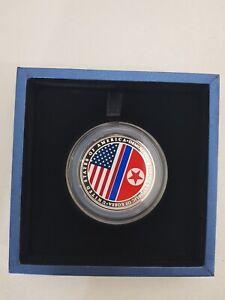 U.S.-DPRK Summit 2018 1oz 999 Fine Silver Medallion   Singapore Mint 2nd Issue