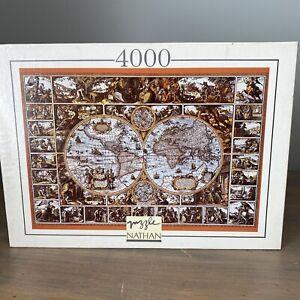 Nathan Puzzle 4000 Magna Carta Mundi World Map Rare Hard to Find 1994