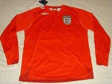 England Soccer Jersey Umbro Top ls Football Shirt  BNWT   XL  XXL  XXXL