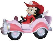 Betty Boop STATUE DRIVING PINK COMIC CAR