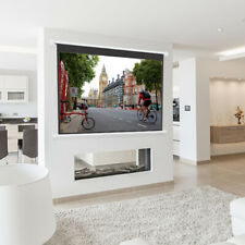 All Sizes Electric Projector Screen Motorised Movie Screen 4:3 16:9 Remote HD TV