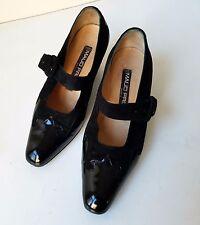 "Vintage Maud Frizon Black Leather & Suede 2.5"" Heel  Size 37 1/2"