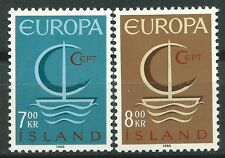 ISLANDIA EUROPA cept 1966 Sin Fijasellos MNH