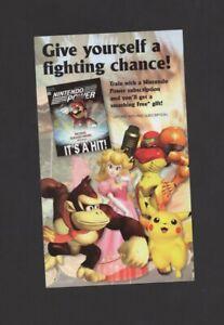 Super Smash bros Melee Nintendo Gamecube Power Ad INSERT ONLY Authentic