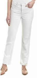 NWT Helmut Lang Relaxed Tapered Jeans White Distressed Pants Size 25