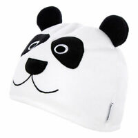 Trespass Bamboo Childrens White Panda Design Hat Warm Beanie for Boys Girls