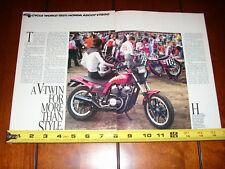 1983 HONDA ASCOT VT500 - ORIGINAL ARTICLE